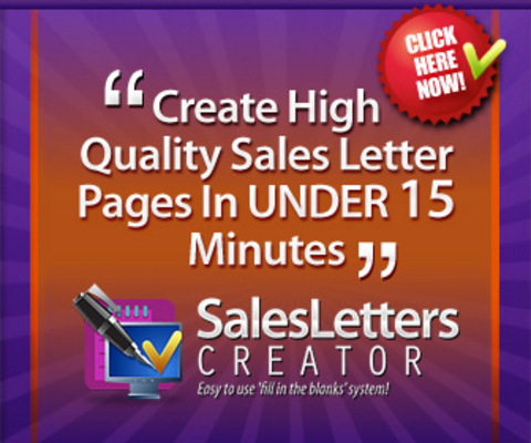Product picture Sales Letters Creator & Mentoring